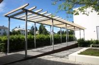 """Kassel, Evang. Schule """"Fröbelseminar"""" - Rampe mit Pergola"""